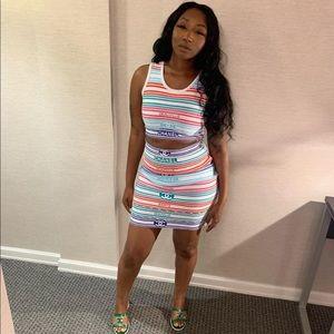 Chanel 2 piece skirt set